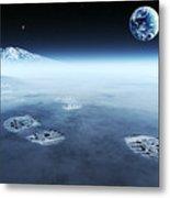 Mankind Exploring Space Metal Print