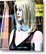 Mannequin Window 4 Metal Print