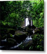 Manoa Falls Stream Metal Print