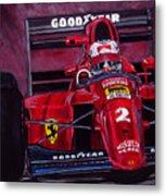 Mansell Ferrari 641 Metal Print