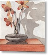 Mantel Flowers Metal Print