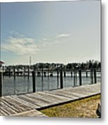Manteo Waterfront Metal Print