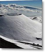 Mauna Kea Dressed In Snow Metal Print