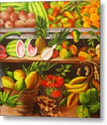 Manuel And His Fruit Stand Metal Print