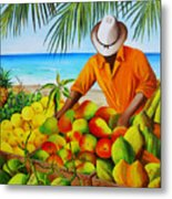 Manuel The Fruit Vendor At The Beach Metal Print