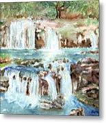 Many Waterfalls Metal Print