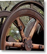 Many Wheels Metal Print