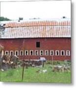Many Windowed Barn  Washington State Metal Print