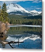 Manzanita Lake Reflects On Mount Lassen Metal Print