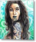 Maori Woman Metal Print
