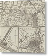 Map Illustrating General Lee's Advance Into Pennsylvania  Metal Print