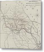 Map Illustrating General Sherman's March Through Georgia  Metal Print