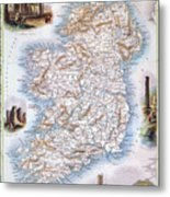 Map: Ireland, 1851 Metal Print