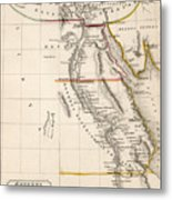Map Of Aegyptus Antiqua Metal Print by Sydney Hall