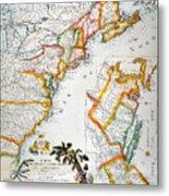 Map Of America, 1779 Metal Print