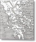 Map Of Ancient Greece Metal Print