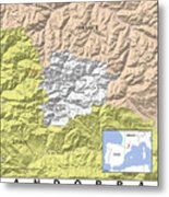 Map Of Andorra Metal Print