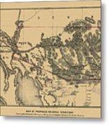 Map Of Arizona 1857 Metal Print