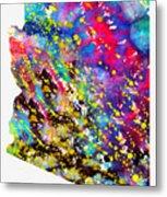 Map Of Arizona-colorful Metal Print