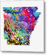 Map Of Arkansas-colorful Metal Print