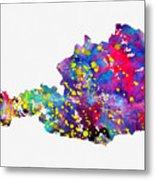 Map Of Austria-colorful Metal Print
