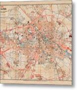 Map Of Berlin 1895 Metal Print