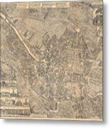 Map Of Berlin Showing Buildings Of Interest, 1773 Metal Print