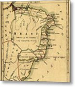 Map Of Brazil 1808 Metal Print