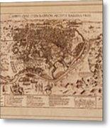 Map Of Cairo 1600 Metal Print