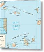 Map Of Cape Verde Metal Print