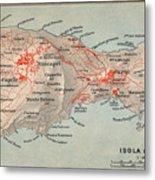 Map Of Capri 1909 Metal Print