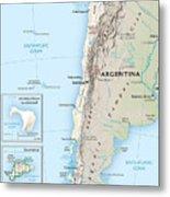 Map Of Chile 2  Metal Print