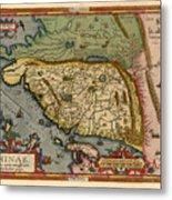 Map Of China 1590 Metal Print