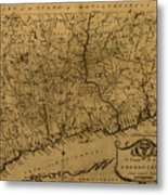 Map Of Connecticut 1797 Metal Print