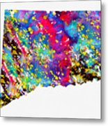 Map Of Connecticut-colorful Metal Print