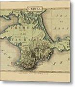 Map Of Crimea 1815 Metal Print