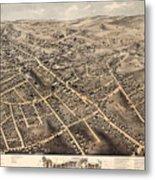 Map Of Danbury 1875 Metal Print