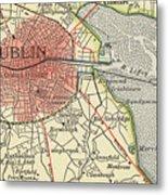 Map Of Dublin Metal Print