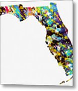 Map Of  Florida-colorful Metal Print