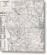 Map Of Franklin County Ohio 1883 Metal Print