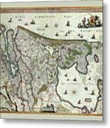 Map Of Holland 1682 Metal Print