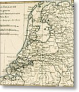 Map Of Holland Including The Seven United Provinces Of The Low Countries Metal Print