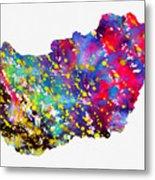Map Of Hungary-colorful Metal Print