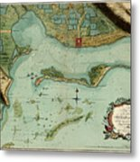 Map Of Jamaica 1756 Metal Print
