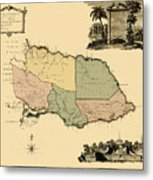 Map Of Jamaica 1763 Metal Print