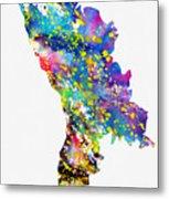 Map Of Moldova-colorful Metal Print