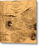 Map Of Nashville 1860 Metal Print