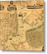 Map Of Norfolk 1851 Metal Print