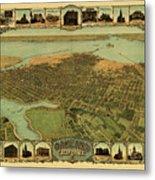 Map Of Oakland 1900 Metal Print