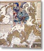 Map Of The Christmas Flood Of 1717 Metal Print
